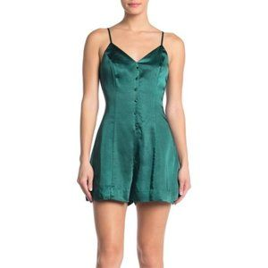 NWT ENDLESS ROSE green romper button front large